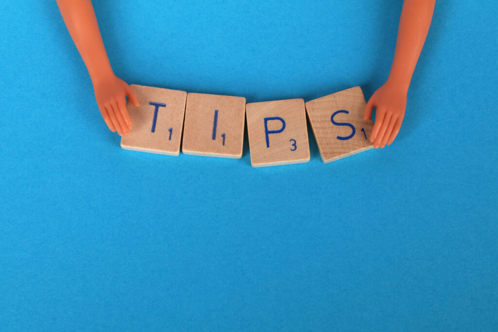 Tips spelled out